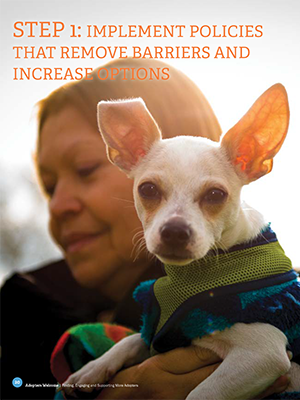 Adopters Welcome: Implement policies that remove barriers and increase options