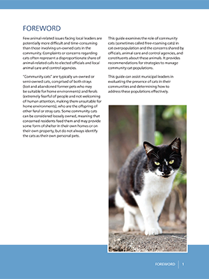 Managing Community Cats: Foreword