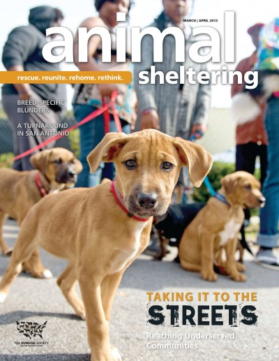 Animal Sheltering magazine March/April 2013