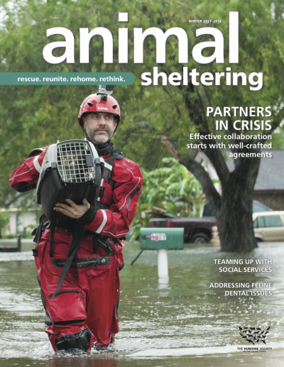 Animal Sheltering magazine Winter 2017-2018