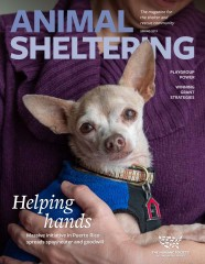 Animal Sheltering magazine spring 2019 cover