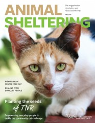 Animal Sheltering magazine fall 2019 cover